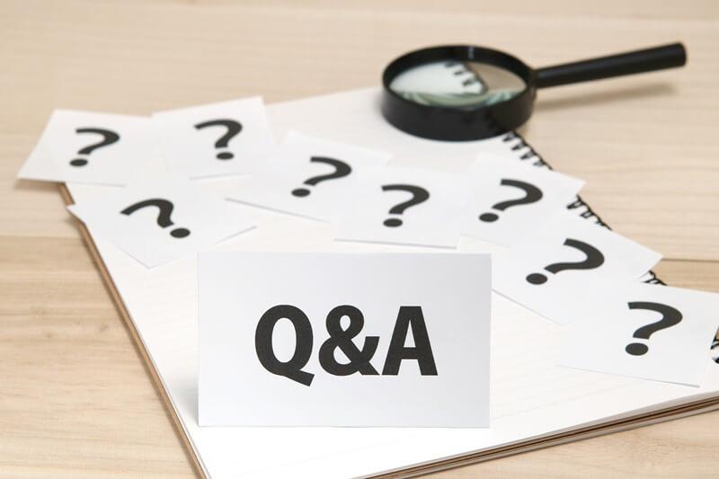 Q&Aのメモと虫眼鏡