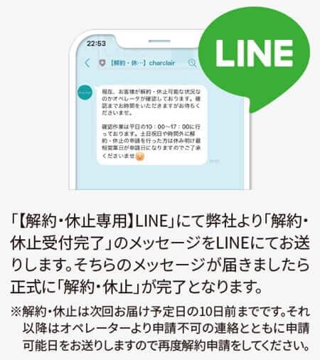LINEに受信したメッセージ