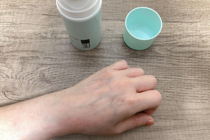 3Uクレンジングジェルを洗い流した手