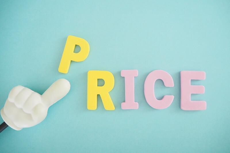PRICEの文字